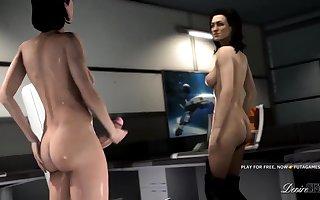 HARD FUTA  WITH MIRANDA MASS EFFECT 3D FUCK
