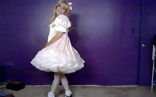 Beautiful sissy in dress