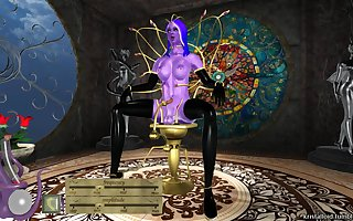 3d futanary dark elf masturbate on fantazy fuck-machine