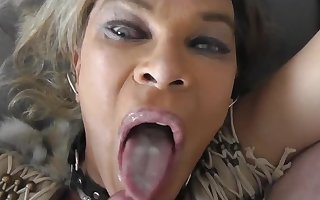 Mature tranny slut eat my cum!